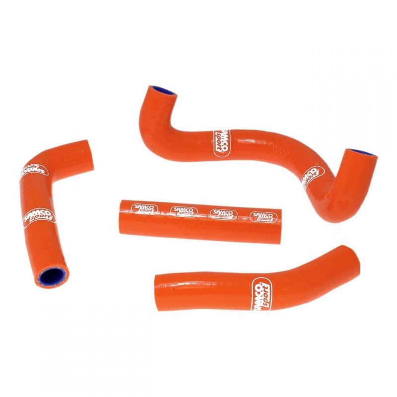 Durites de radiateur Samco Sport type origine KTM 50 SX Pro Junior LC 2009 orange (4 durites)