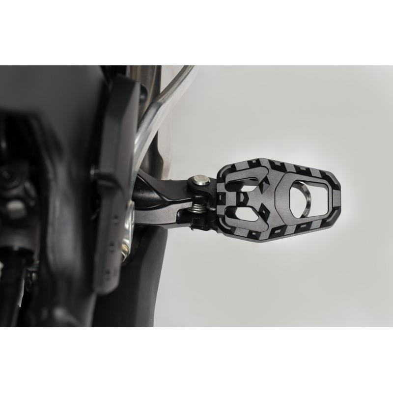 Extension de repose-pieds SW-MOTECH noir Honda CRF1000L Africa Twin 15- - 1