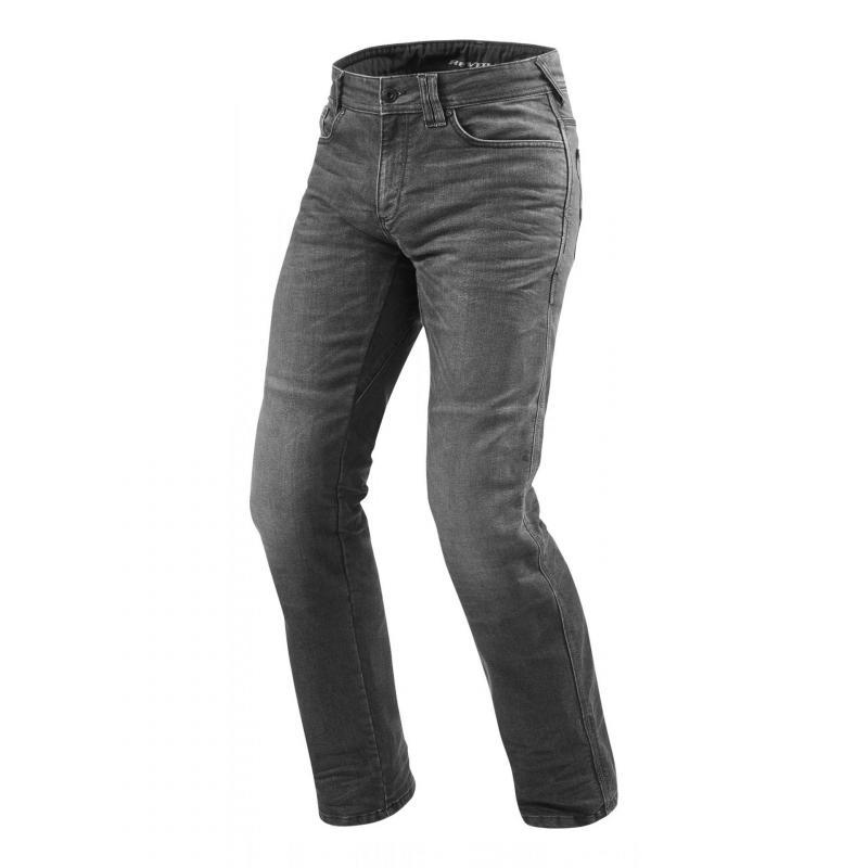Jeans moto Rev'it Philly 2 LF longueur 36 (long) gris foncé délavé