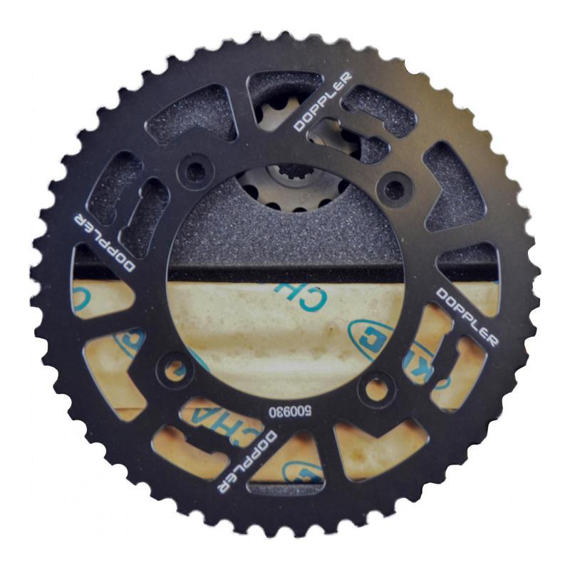 Kit chaîne Doppler 13x53 pas 420 Beta Factory / RR SM 05- alu noir