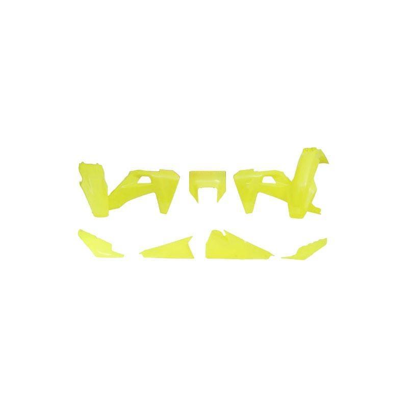 Kit plastique RTech Husqvarna TE 250i 2020 jaune fluo