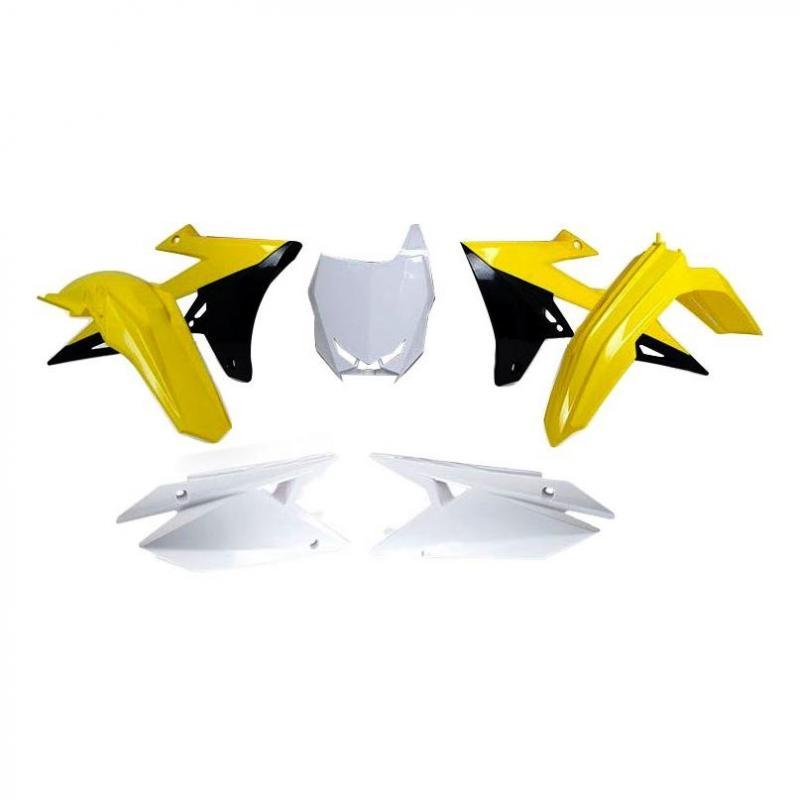Kit plastique RTech Suzuki 250 RM-Z 19-21 jaune/noir/blanc (couleur OEM)