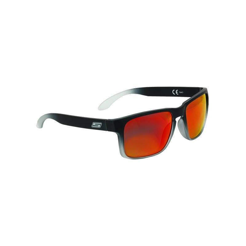 Lunette de soleil S-Line N°20 verres iridium or/rouge monture noir mat