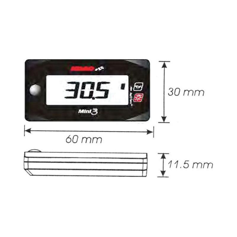 Manomètre de pression d'huile Koso Mini 3 - 2