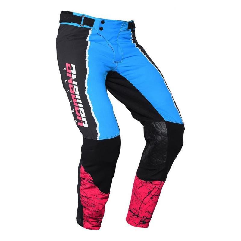 Pantalon cross Answer Trinity pro Glow Hyper bleu/rose/noir - 1