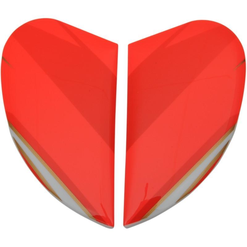 Plaques latérales Icon pour casque Airframe Pro Max Fash rouge