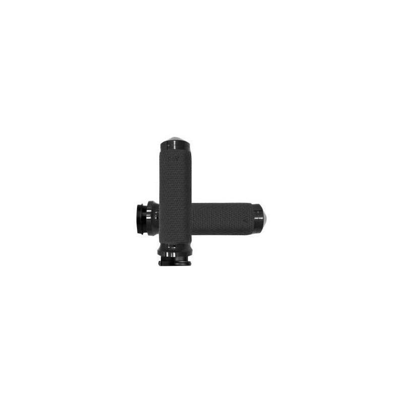 Poignées Avon Ø 35mm mémoire de formes tirage électronique embout arrondies Road King 08-20 noir