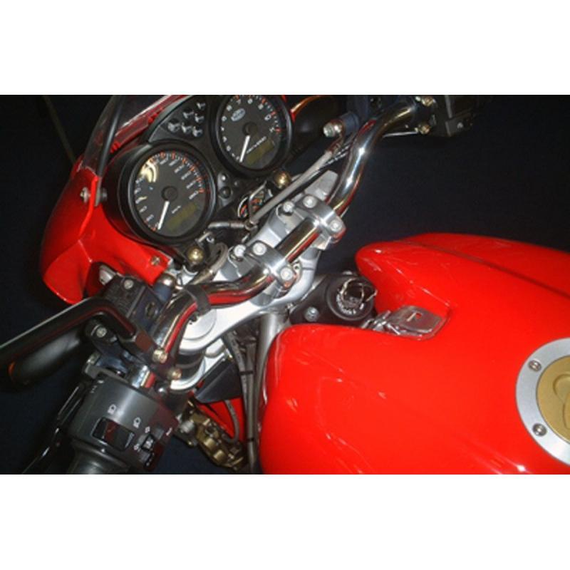 Pontets de guidon LSL Ø22 mm pour tés d'origine rehausse +30 mm décalage 16 mm spécifique Ducati - 1