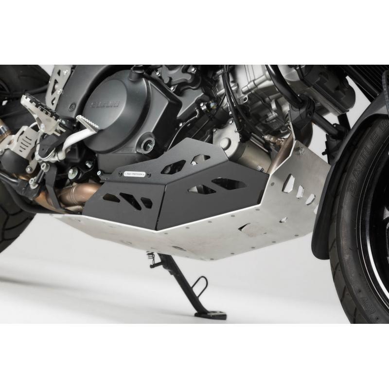 Sabot moteur SW-MOTECH sans barres de protection latérale noir / gris Suzuki V-Strom 1000 - 1