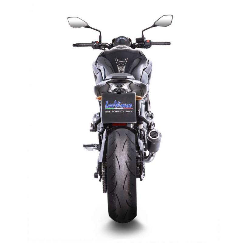 Silencieux Leovince LV-10 Inox noir Kawasaki Z 900 17-19 - 2