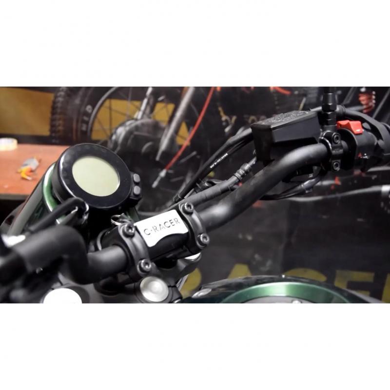 Support de compteur avec saute-vent C. Racer noir Ymaha XSR 700 16-19 - 1