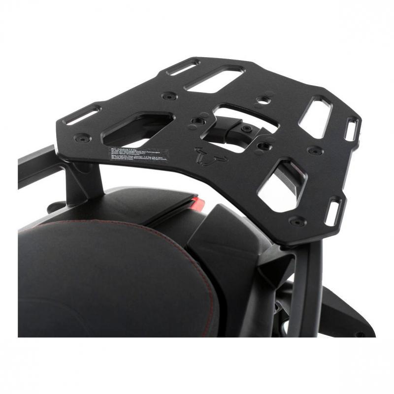 Support top case SW-MOTECH ALU-RACK noir Ducati Multistrada 1200 / S, Hyperstrada