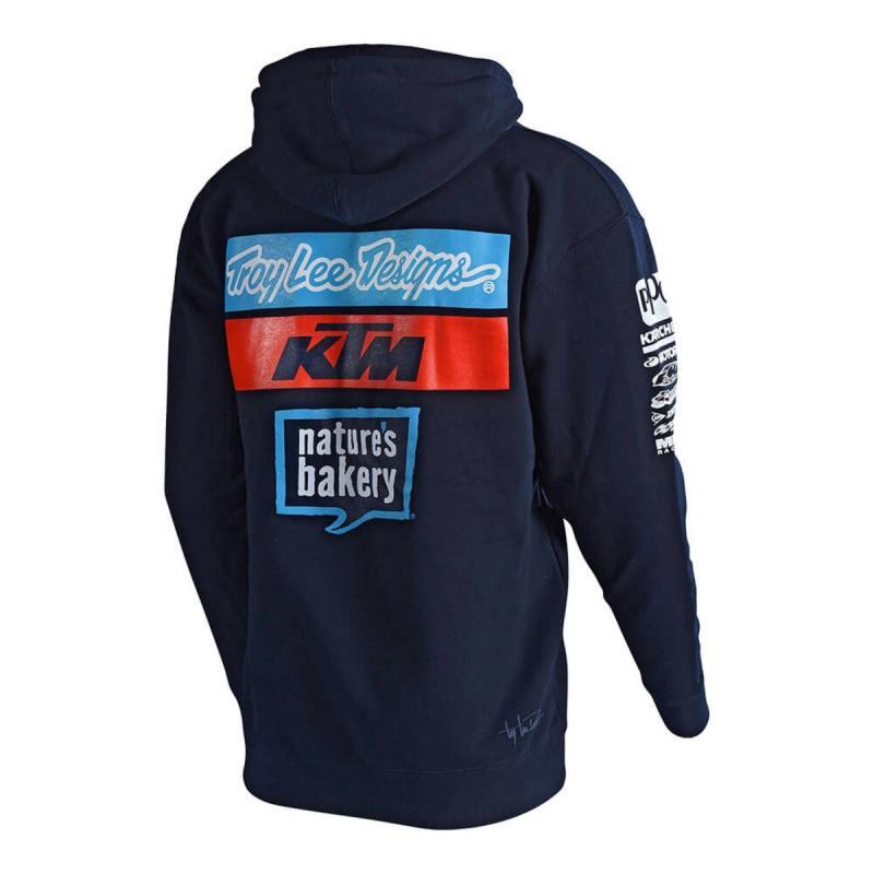 Sweat à capuche avec zip Troy Lee Designs Zipup KTM team '18 - 1
