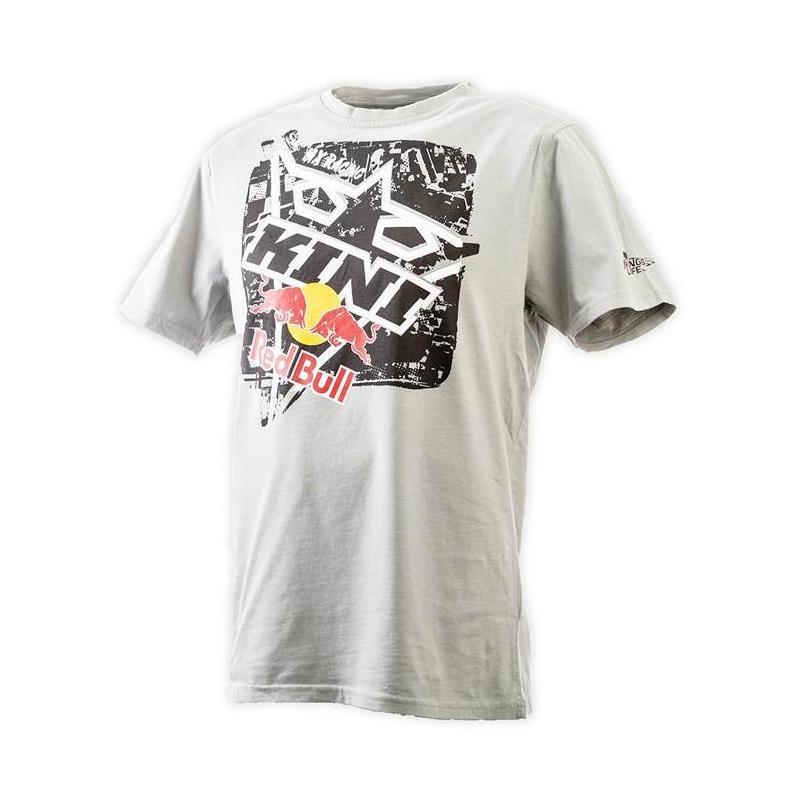 Tee shirt Kini Red Bul Square gris clair - 3