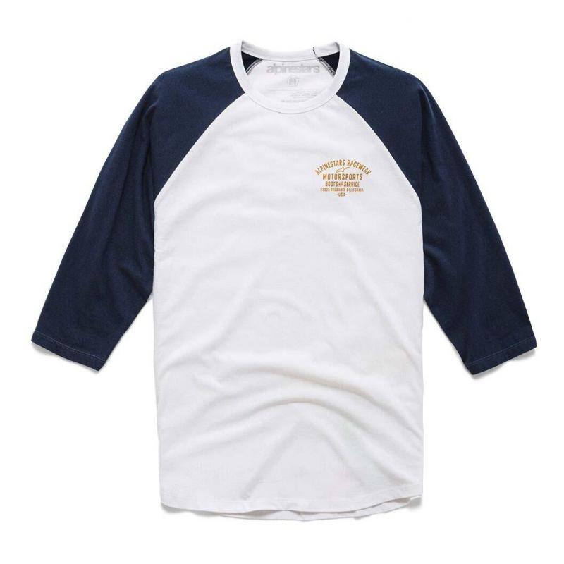 Tee-shirt manches longues Booted Premium Raglan blanc/bleu