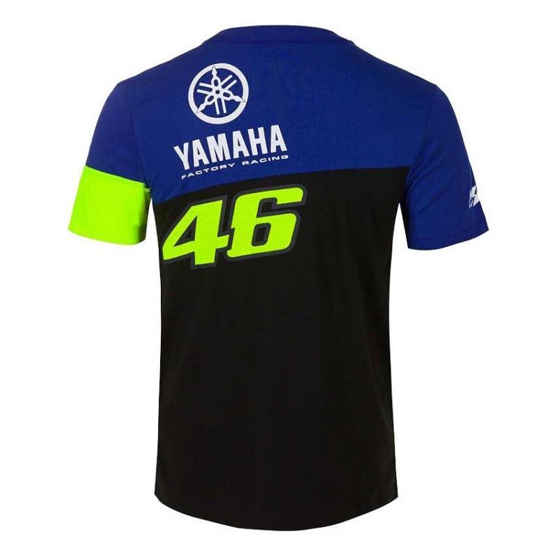 Tee-shirt VR46 Racing Yamaha bleu/noir/jaune - 1