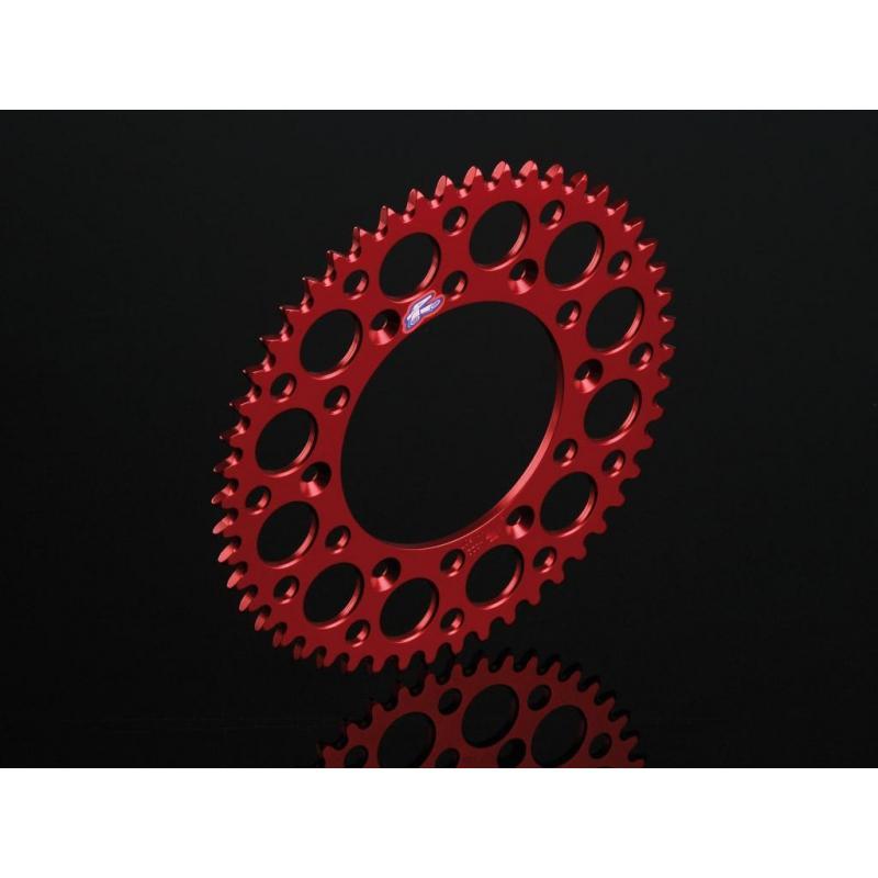 Couronne Renthal Ultra-Light anti boue anodisée rouge 52 dents pour Honda CR 125 R 05-07
