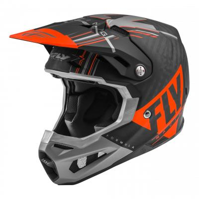 Casque cross Fly Racing Formula Carbon Vector orange/gris/noir mat