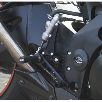Commandes reculées R&G Racing noir Suzuki GSX-R 1000 07-08