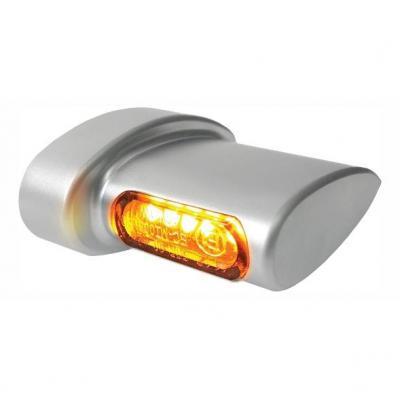 Clignotants de garde-boue arrière Heinz Bikes Micro LED alu mat / ambre