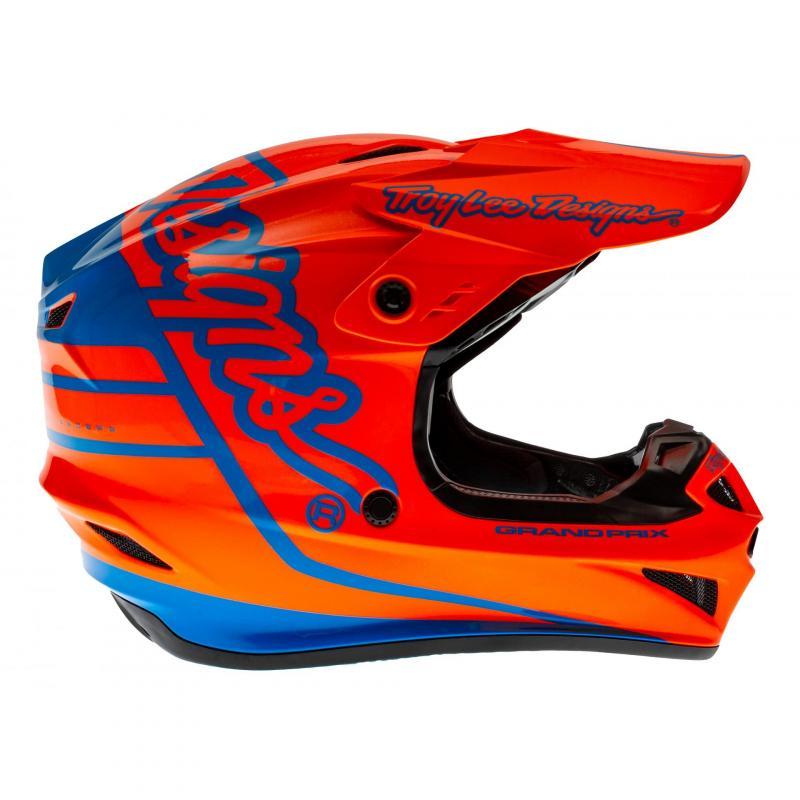 Casque cross Troy Lee Designs GP Silhouette orange/cyan - 2