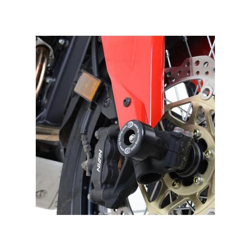 Tampons de protection de fourche R&G Racing noirs Honda CRF1000L Africa Twin 16-18
