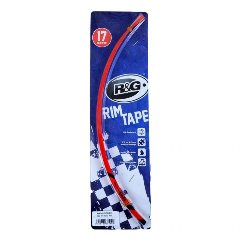 Liserets de jante R&G Racing rouge pour jantes 17 pouces avant et arrière