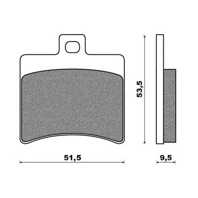 Plaquettes de frein Newfren Standard organique .FD.0267 BKS