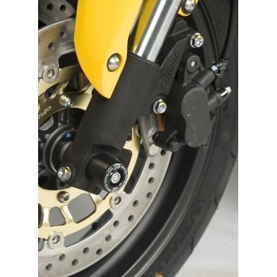 Tampons de protection de fourche R&G Racing noirs Honda CB 600 F Hornet 05-12