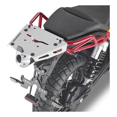 Support spécifique et platine en aluminium Kappa pour top case Monokey Moto Guzzi V85 TT 19-20