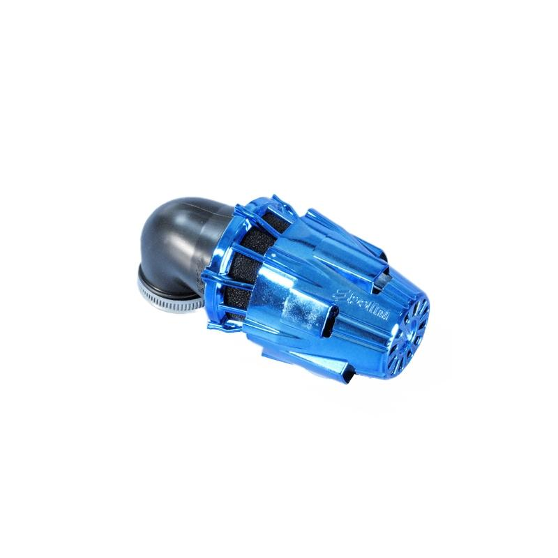 Air box Polini chrome bleu plie 90° d.46