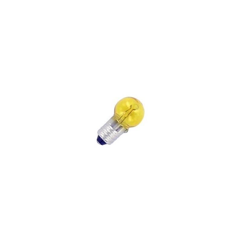 Ampoule E10 6V 6W jaune