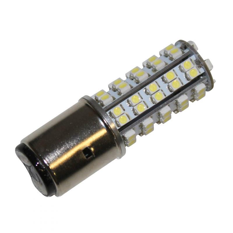 Ampoule led 12v BA20D blanche
