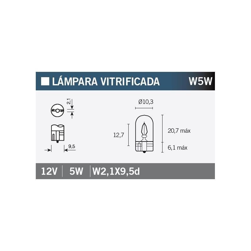 Ampoule Vicma W5W W2,1x9,5d 12V 5W