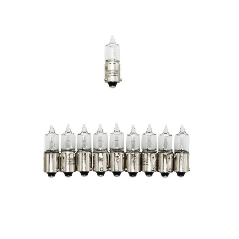Ampoules Flosser 12V H6W culot BAX9S avec ergots décalés blanches (x10)