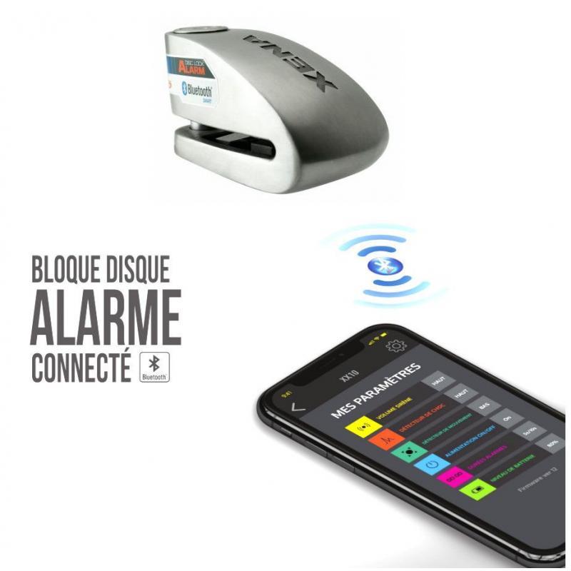 Antivol bloque disque connecté avec alarme Xena XX15 Bluetooth SRA