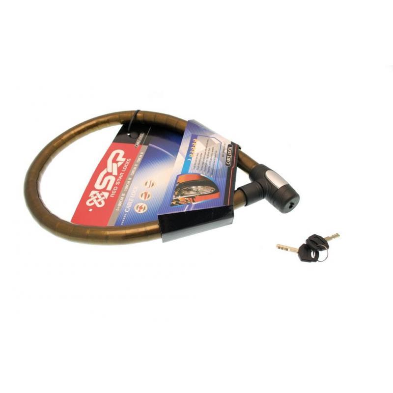 Antivol cable 1m20 en acier articule 25mm