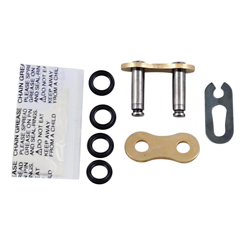 Attache rapide EK SRX2 pas 520 or à clip avec joints toriques