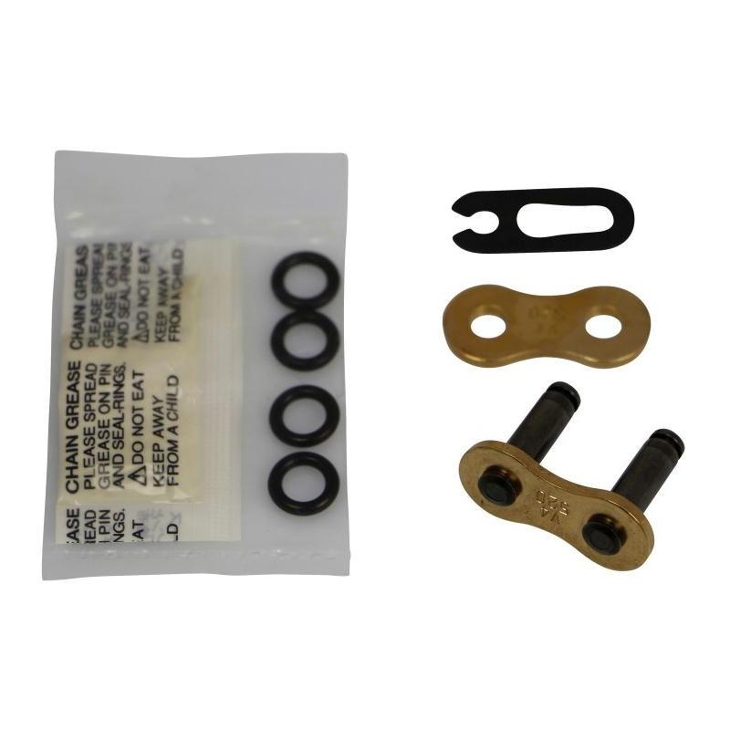 Attache rapide Moto Master V6 Press-Fit pas 520 or à clip avec joints toriques