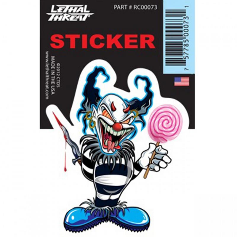 Autocollant Lethal Threat Blue clown 7x11cm