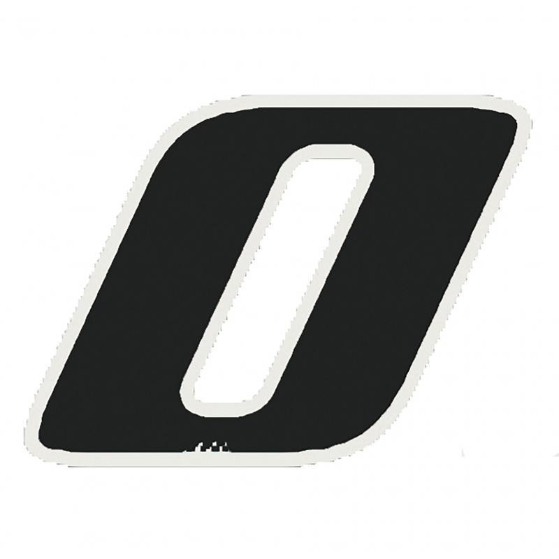 Autocollant numéro 0 noir 13 cm