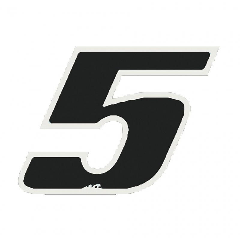 Autocollant numéro 5 noir 9 cm