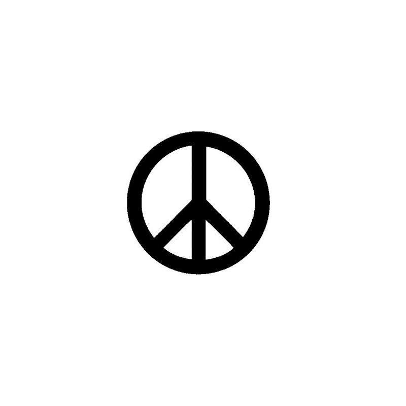 Autocollant Peace And Love 6x6 cm