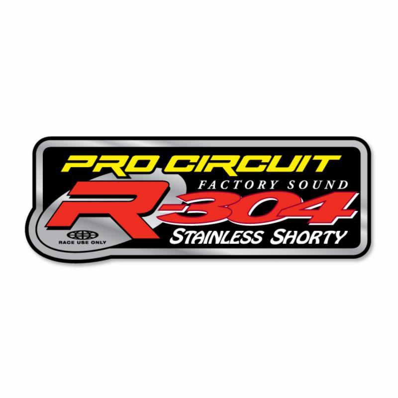 Autocollant Pro Circuit pour échappement R-304 Shorty