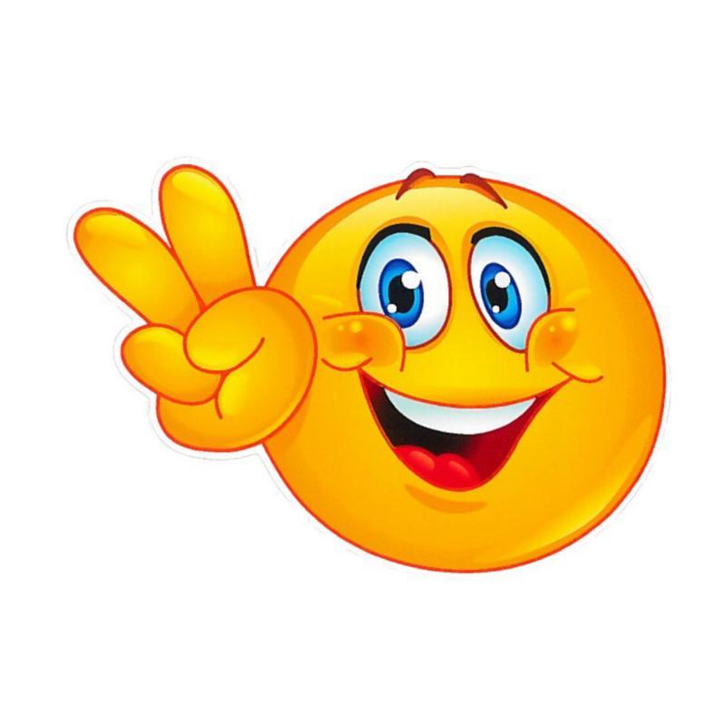 Autocollant smile heureux 10x12cm