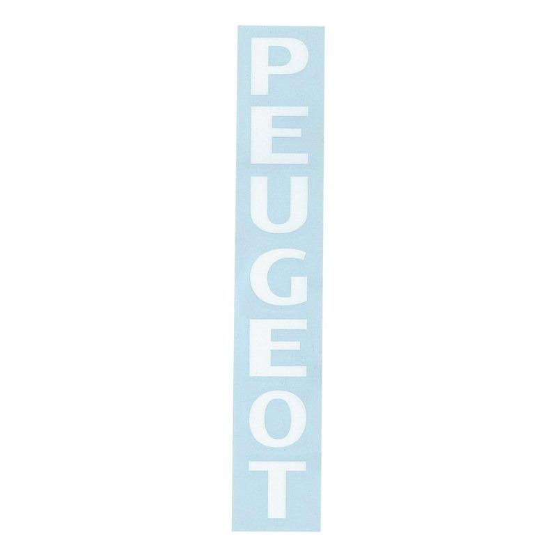 Autocollant stickers de fourche «Peugeot» blanc 190x25