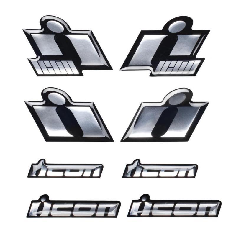 Autocollants Icon 3D Epoxy chrome
