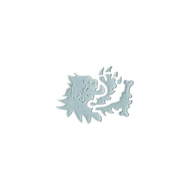 Autocollants Malossi tête de lion 3D Silver