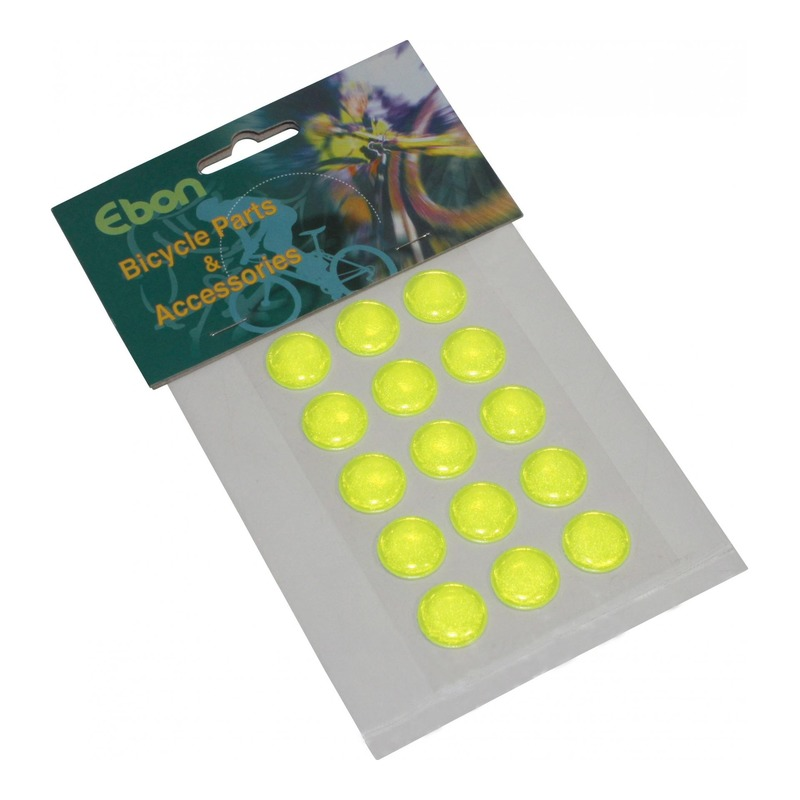 Autocollants réfléchissants rond Ø16mm jaune fluo (15 pièces)