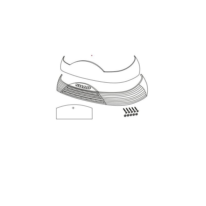 Catadioptre + autocollant Shad pour top case SH46